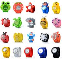klapsuhren für kinder groihandel-Kinderuhr 3D Cartoon Tier Quarz Armbanduhren Sport Kinderuhren Für Baby Student Clock Slap Watch