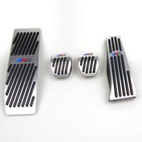pedales de freno del embrague al por mayor-Sin pedales de taladro para BMW 1 3 Serie E46 E90 E91 E92 E93 E87 E88 Embrague de aluminio Pedal de freno de gas LHD MT con logotipo M