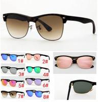 Wholesale colorful eye glass frames for sale - Group buy 5PCS Half Frame Colorful Glass Lens Sunglasses Men Sunglass Women Brand Design TR90 Sun Glasses Shades oculo Retro Vintage colors