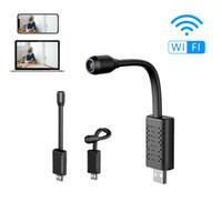 grabador de video en tiempo real al por mayor-Nueva U21 HD 4K Mini cámara inteligente Detección de movimiento IP / AP Cámara WiFi Monitor inalámbrico en tiempo real Cámara USB Grabadora de video de seguridad para el hogar