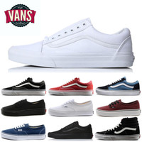 Wholesale shoes women old for sale - Group buy Fashion Van Old Skool Canvas Shoes Designer Men Sneakers Sports Skateboarding Women Mens all black white Training van baskets Casual Shoe