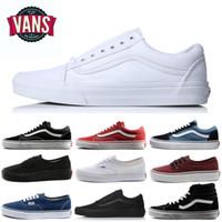 erkekler egzersiz ayakkabıları moda toptan satış-vans Moda Minibüsler Eski Skool Kanvas Ayakkabılar Tasarımcı Erkekler Sneakers Spor Kaykay Kadın Erkek tüm siyah beyaz Eğitim minibüsler sepetleri Rahat ayakkabı