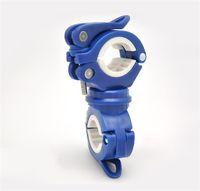 Wholesale headlight blue resale online - Hot Plastic Bike Lamp Holder Bicycle Flashlight Clip Fixed Headlight Bracket Rotation Adjustable Flexible Bicycle Accessories EDC qxG1