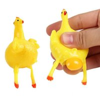 spiele gag großhandel-Neuheit Spiele Legehennen kreative Quetschen Huhn Gag Toys Erwachsene Dekompression Spielzeug Kinder Aprilscherz Spoofing Spielzeug