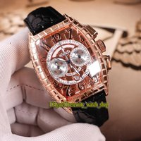 Wholesale dial scales for sale - Group buy 3 Color High quality Black Croco CC AT BLK CRO Rose Gold Snake scale pattern Dial Japan VK Quartz Chronograph Mens Watches Leather