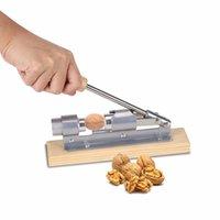 ingrosso multi strumento di legno-Metallo Schiaccianoci con manico in legno Multi-Function Nut Cracker Sheller Noce Cracker Pinza in acciaio inox Opener Utensile da cucina
