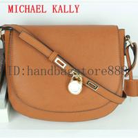 Wholesale saddle blue resale online - High quality lock handbag fashion women famous brand MICHAEL KALLY crossbody bag luxury designer saddle purse lady hasp message bags female