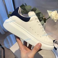 Wholesale girl casual lace shoes resale online - 2019 Luxury Designer shoes White sneaker Platform Shoes genuine leather trainers Comfort Pretty Girl style casual shoes with box