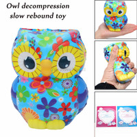 Wholesale stress relief toys for adults resale online - jumbo Squishy Antistress Squishe animalsAdorable Owl Squeeze Cream Scented Slow Rising For Children adults Stress Relief Toys