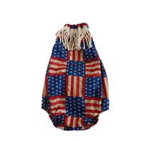 dreieck amerikanische flagge großhandel-Sommer Baby Star Strampler amerikanische Flagge Unabhängigkeit Nationalfeiertag USA 4. Juli Baby Quaste Streifen Star Print Triangle Jumpsuit
