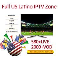 Wholesale dvb usb tv receiver for sale - 580 Latino Live tv iptv subscription for android abonnement iptv months abbonamento iptv Support M3U Mag Box Smart TV