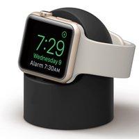 apple iwatch charging toptan satış-iWatch Şarj Standı iWatch iWatch 1/2/3/4 Serisi için Silikon Şarj Tabanı Yuvası, Adaptörler Dahil DEĞİLDİR