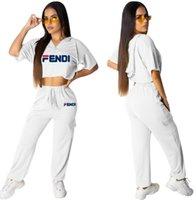 zweiteilige crop top kurze sets groihandel-Frauen Augen Lippen Print Zweiteiler Kurzarm T-Shirt Crop Tops High Waist Shorts Marke Kleider Sommer Female Verein Sets Wear