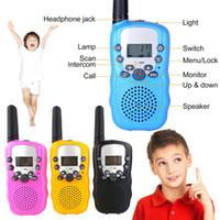 frs walkie achat en gros de-Mini station de radio talkie-walkie pour enfants Retevis T388 0.5W PMR PMR446 FRS UHF Radio portable Radio émetteur-récepteur émetteur-récepteur MMA2052