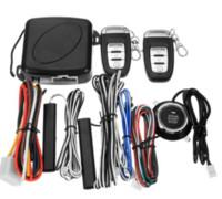 sistemas de arranque de alarma de coche al por mayor-por DHL 20sets Alarma de Auto, el botón de arranque del motor Entrada de parada Botón de inicio del sistema de alarma de arranque sin llave remota impulsada