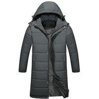 kürk yakalı uzun ceket erkek toptan satış--30 Yeni Kış Erkekler Kapşonlu Kalın Sıcak Parkas Coat Fur Yaka Windproof Casual uzun Erkekler Elbise Ceket Kaban