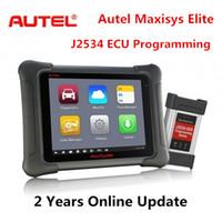 диагностический инструмент pro оптовых-Обновленный диагностический сканер Autel Maxisys Elite Autel MS908P Pro Инструмент диагностики Autel Автоматическое считывание кодов с программированием электронного блока управления J2534