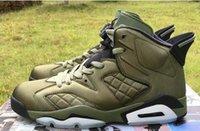 canlı ceket toptan satış-Tasarımcı Jumpman Yeni Ucuz 6 erkek Naylon Yeşil Ordu spor ayakkabı 6s Uçuş Ceket Pinnacle Saturday Night Live basketbol ayakkabıları 6S mens