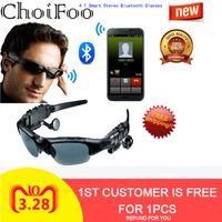 ingrosso film in vetro virtuale-Intelligente Stereo Bluetooth Occhiali da sole Uomini 3D Vetri polarizzati occhiali voce per auto stereo multi-funzione Bluetooth esterno mani libere
