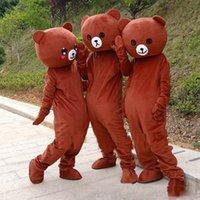 ursinho de pelúcia venda por atacado-Alta qualidade rilakkuma mascote urso de pelúcia anime traje da mascote frete grátis