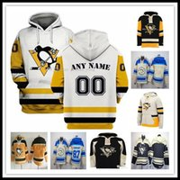 ingrosso hoodies di sidney crosby-2019 Uomini Pittsburgh Penguins Sidney Crosby 87 58 Kris Letang 59 Jake Guentzel 71 Evgeni Malkin 72 Patric Hornqvist Kessel cappuccio Maglie