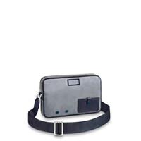 beste männer taschen großhandel-Global kostenloser Versand klassischer Luxus passenden Leder Canvas Männer Umhängetaschen beste Qualität Handtasche 43918 Größe 28 cm 19 cm 6 cm