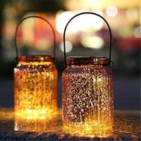 candeeiros de mesa venda por atacado-Solar Mercury frasco de vidro Lights - 2 Lâmpadas de mesa de prata Pacote de suspensão interior luz ao ar livre para o Pátio Jardim Lawn decoração da parede