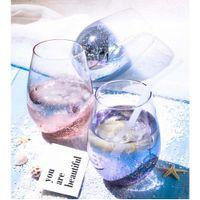 кухонные чашки оптовых-Lot24pcs/комплект 500 мл бессвинцовый хрусталь яйцо стакан вина стеклянный стакан долгота-Радуга покрытием прозрачные чашки домашнего бара аксессуары для кухни