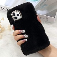 Wholesale iphone 7 case girly for sale – best Cute Girly Case with Bling Crystal Diamond Silicon Soft Fluffy Furry Shockproof Protective Phone Case for iPhone plus Xr Pro Max