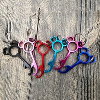 Wholesale key shaped wine opener resale online - Lovely Metal mouse Shaped Wine Beer Bottle Opener Ring Keychain Key Chain Lovely Cooking Tool Gizmos Outdoor MMA2663