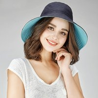 Wholesale sunshade hats women resale online - Fisherman Hat Female Thin Spring Summer Bucket Cap Women Flower Casual Fashion Sunscreen Sunshade Visor Basin Fisher Hats H6904