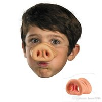 1Pc Halloween Cosplay Simulation Rubber Pig Nose Funny Mask Fake Snout