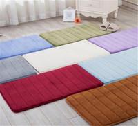 Wholesale shaggy bath mats resale online - 40 cm Bath Mat Bathroom Carpet Water Absorption Rug Shaggy Memory Foam Bathroom Mat kitchen Floor
