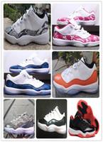 ingrosso scarpe da basket rosa per le donne-11 Low SE Snakeskin Navy Blue pink Snakeskin Scarpe da basket 11s allevati a Concord Georgetown Menwomen sport Atletica leggera Sneaker shippment gratuito