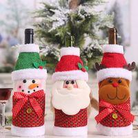 tampas da garrafa de pano venda por atacado-Suprimentos Garrafa de Natal Arte Bottle Capa de Natal da tampa de pano portátil partido festivo