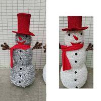 árvore de natal de brinquedo venda por atacado-Merry Christmas Snowman Shape Christmas Tree Toy Decorações Lareira Janela Decoração de festa