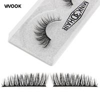 pestañas coreanas al por mayor-Vnook Marca Maquillaje 3D Visón Pestañas Falsas Pestañas Falsas Naturales Extensión de Pestaña Tira Completa 10 Estilos Moda Coreana maquillaje