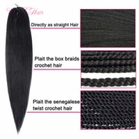 Wholesale ombre hair for braiding for sale - Group buy Easy Braid synthetic Hair For Braid Pre Stretched Ombre Crochet Braid Hair fashion new Extensions inch For Black Women