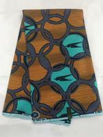 telas con estampado java al por mayor-Nueva llegada bloque Batik africano imprime telas de cera 100% algodón para patchwork vestido 2019 moda Ankara java tela de cera! OT-4107