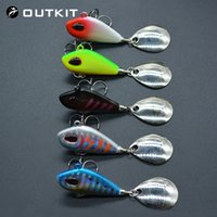 Wholesale mini crankbait resale online - OUTKIT New Metal Mini VIB With Spoon Fishing Lure g10g17g25g cm Fishing Tackle Pin Crankbait Vibration Spinner Sinking Bait