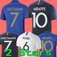 alet kızı toptan satış-France soccer jersey football shirt 2019 Fransa futbol forması 100. yıldönümü 100 yıl 2 yıldız Yeni Futbol Forması 2018 Dünya Kupası Takım futbol forması Griezmann MBAPPE