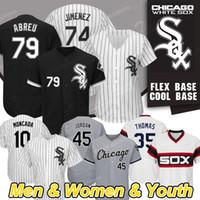 baseball jerseys chicago groihandel-Chicago kundenspezifische weiße Sox-Trikots Jon Jay Eloy Jimenez 74 Frank Thomas Yoan Moncada Michael Kopech Jose Abreu