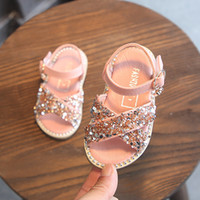Wholesale slipper winter baby for sale - Group buy Summer New Fashion Rhinestone Princess Sandals Years Old Baby Girls Shoes Summer Toddler Girl Slippers Kids Shoes CX200603