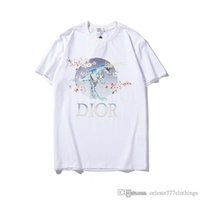 ingrosso stampa di fiori di prugne-2019 moda estate magliette per uomo mens designer magliette Plum fiore dinosauro marchio di stampa top uomo abbigliamento donna