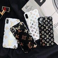 cubiertas suaves de la moda iphone al por mayor-Cajas del teléfono de cuero de lujo para iphone x xs max xr 6 7 8 plus case marca de moda suave diseñador cajas del teléfono cubierta