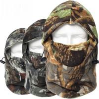 ingrosso nomi dei colori d'autunno-Camouflage Thermal Warmer Polar Fleece Full Face Mask Snowboard Balaclava Bicicletta Cap Cappelli Snowboard Berretti Winter Hunt