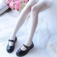 jovem lolita venda por atacado-Japonês Lolita bonito sexy cut-out lace Jacquard meia-calça juventude Coréia magros da menina jovem calças elásticas frete grátis
