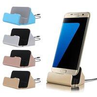 tipos de telefones venda por atacado-Universal Micro Type C doca de carregamento ficar Station Carregador Cradle para Samsung Galaxy S6 nota S8 s10 10 Phone HTC android