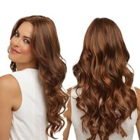 lange wellige haarperücken großhandel-Freies Verschiffen-lange wellenförmige lockige synthetische Haar-Perücken für schwarze Frauen 28