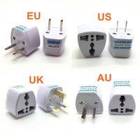 евро адаптеры оптовых-Универсальный США Великобритании AU заткнуть США ЕС к Евро Европа Путешествия AC стены зарядное устройство розетка адаптер конвертер Гнездо